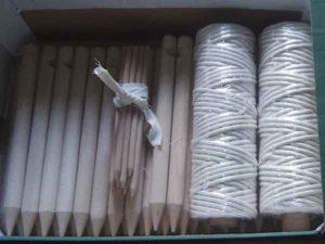 Tipi haringen, needles en touw