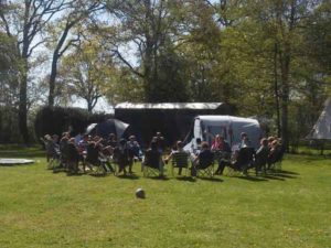 de camping is ook geschikt voor groepen